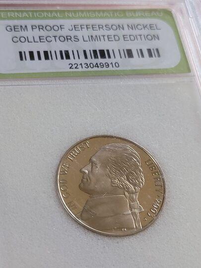 gem proof Jefferson nickel 2003 Item Image