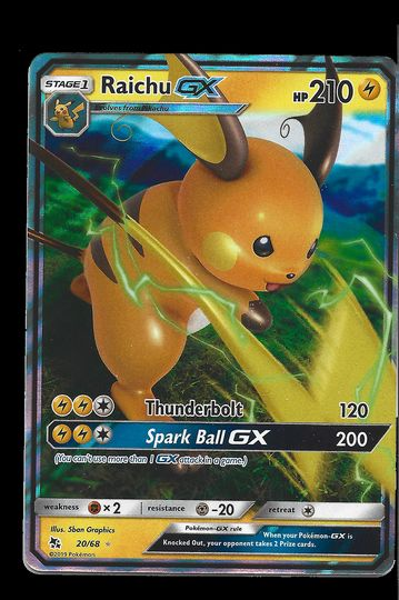 20/68 Raichu GX Hidden Fates GX Mint Item Image
