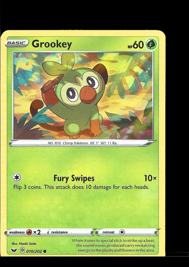 010/202 Grookey Sword and Shield Common Mint Item Image