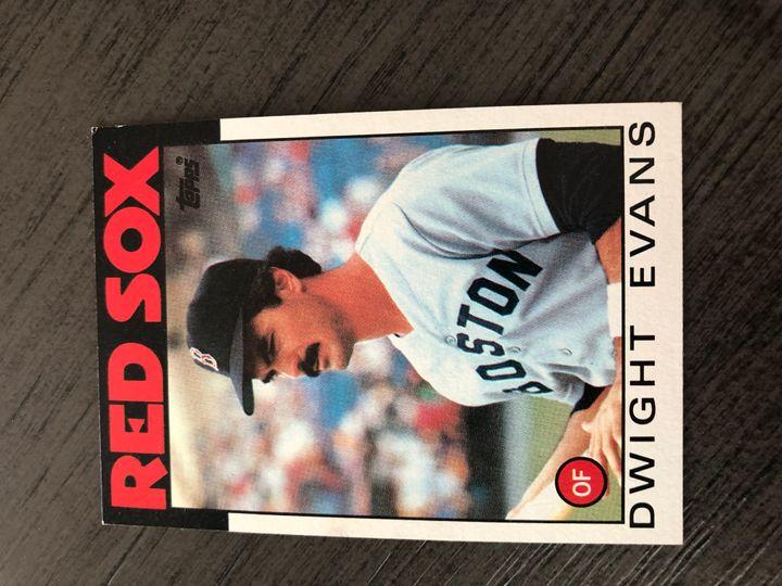 1986 TOPPS DWIGHT EVANS 60 Item Image